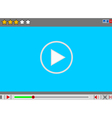 Video movie media player interface vector