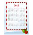 European 2013 calendar vector