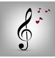 I love music concept vector