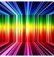 Abstract rainbow warped stripes background vector