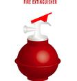 Round fire extinguisher vector