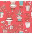Flower pots background vector
