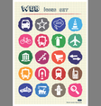 Transport and road signs urban web icons set vector