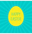 Easter yellow egg sunburst background card vector