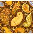 Vintage floral motif ethnic seamless background vector