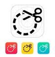 Cut circle icon vector