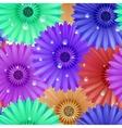Seamless flower gerbera patter vector