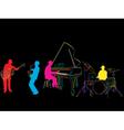 Jazz band sketch vector