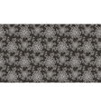 Elegant white flower seamless pattern on brown vector