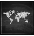 Vintage with the world map on blackboard vector