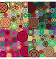4 retro colored circles background vector