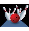 Bowling skittles vector