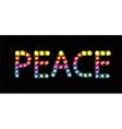 Gem word peace vector