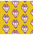 Seamless pattern background of owl vector