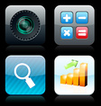Square high-detailed app icons vector