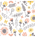 Field flowers pattern vector
