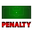 Football - penalty symbol vector