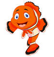Cute clown fish cartoon vector