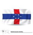 Flag of netherlands antilles vector