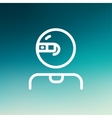 Computer web camera thin line icon vector