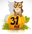 Wise owl halloween party vector