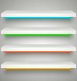Neon illumination shelves vector