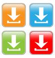 Arrow icon download set vector