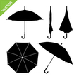 Umbrella silhouettes vector