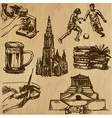 Traveling germany - an hand drawn pack vector