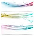 Contemporary transparent speed swoosh wave header vector