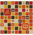 Social media retro background vector