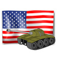 Flag and tank vector
