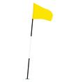 Yellow golf flag vector