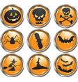 Halloween icon buttons vector