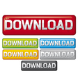 Download buttons - web download icon vector