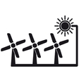 Alternative energy symbol with windmill vector