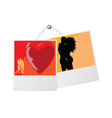 Photo frame with love couple vector