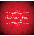 Valentines day card in format vector