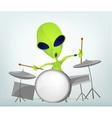 Cartoon alien drums vector