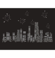 Fireworks city vector