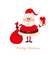 Santa claus with a bag of gifts and gift box vector