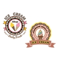 Ice cream labels vector