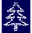 Christmas tree from snowflakes vector