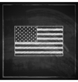 Vintage with united states flag on blackboard vector