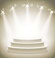 Empty round shelf gold exhibition 3d eps10 podiums vector