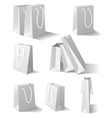 White paper bags set vector