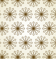 Star circle line and center flower pattern on vector