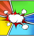 Explosion cloud abstract comic book style frame vector