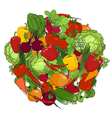Healthy food fresh vegetables vector