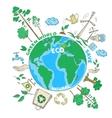 Doodle ecology concept vector